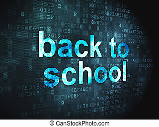Education concept: Back to School on digital background