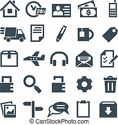 Universal set of icons for mobile applications and web sites...