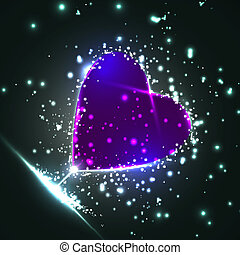 Futuristic heart, abstract background, vector illustration eps10