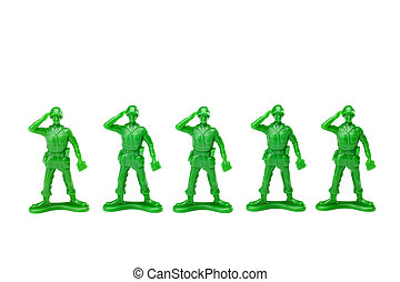 close up image of green toy soldiers