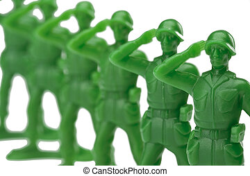 close up military salute - Close up image of a green...