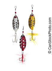 colorful fishing lure - Close-up image of colorful fishing...