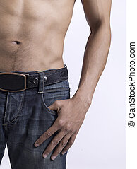 muscular body of a man