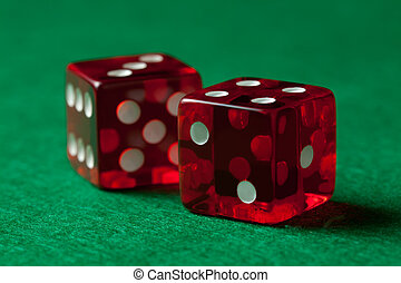rolling dice - Red Craps Dice