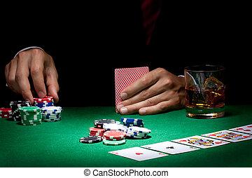 poker - Man playing poker