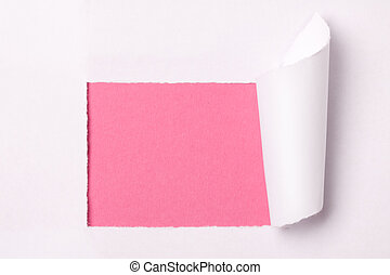 ripped white paper on a white background