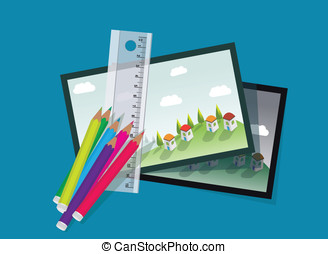 Crayons, rulers and village officia