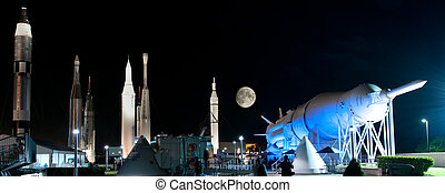 Rockets at NASA Kennedy Space Center - Rockets at the space...