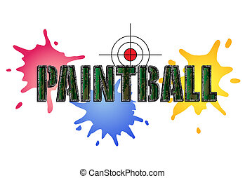 Paintball Logo - Paintball logo in camouflage style with...