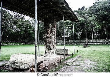 templos, Copan, Ruinas, honduras