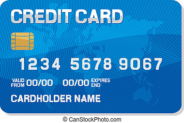 credit card with a smart chip (credit card icon)