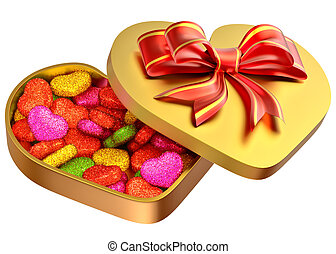 candy in a box as a gift for Valentine's Day