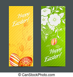 Easter Holiday Set with Two Banners