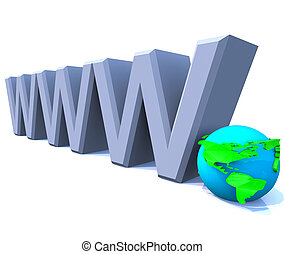 www World Wide Web Internet with Globe - America