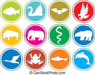 animals icons buttons animal icons set, animal icons...