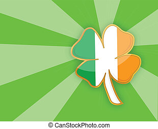 Clover leaf element background