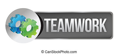 teamwork concept banner illustration design over a white...
