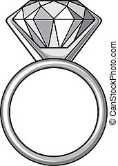 diamond ring (ring with diamond)