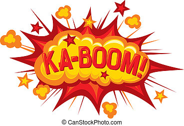 cartoon - ka-boom (comic book element)