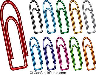 paper clip collection paper clip set