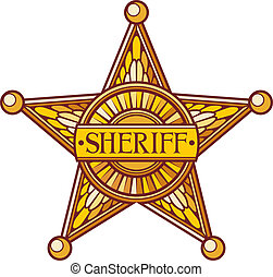 Vector sheriffs star sheriff badge, sheriff shield