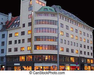 Building in Bergen, Norway - Photo of a building in Bergen,...