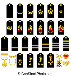 Canadian Army insignia - Epaulets, military ranks and...