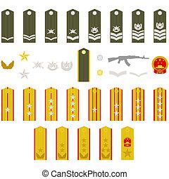 Epaulets Chinese army - Epaulets, military ranks and...