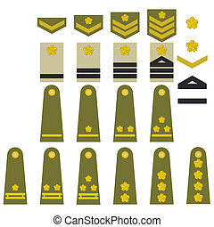 Japanese army insignia - Epaulets, military ranks and...