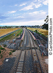railway station in Adelaide - image of a railway station in...