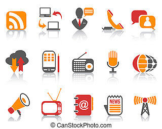 simple color Communication icons set