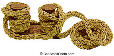 bight of rope, isolated on white