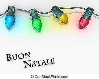 Christmas Lights Merry Christmas - Buon Natale