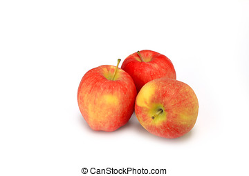 ambrosia apples isolated on white background