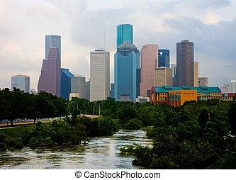 Houston Texas - Houston downtown on a cloudy day