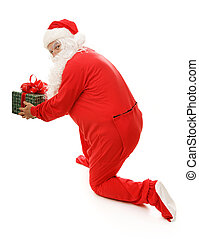 Santa Caught With Gift