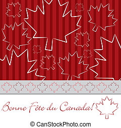 Happy Canada Day! - Hand drawn Canada Day card in vector...