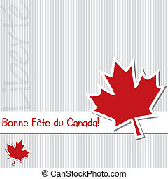 Happy Canada Day! - French 'Happy Canada Day' sticker card...