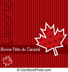 Happy Canada Day - French Happy Canada Day sticker card in...