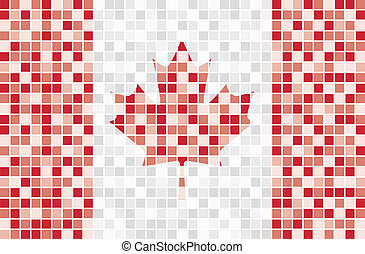 Happy Canada Day! - Mosaic Canada Flag in vector format.