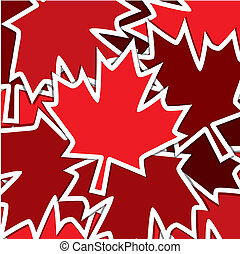Happy Canada Day! - Sticker scatter Canada Day card in...