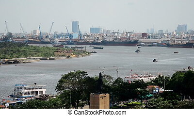 Port Of Ho Chi Minh - the Busy port of Ho Chi Minh Saigon...