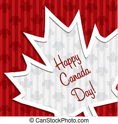 Happy Canada Day - Happy Canada Day sticker card in vector...