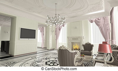 interior room - Cozy and bright room 3 d rendering