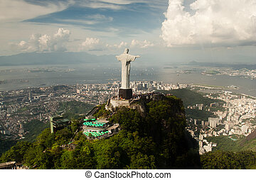 Christ the Redeemer statue - Aerial view of Christ the...