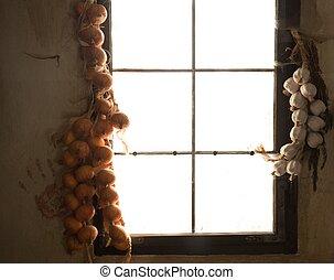 WIndow inside rural house