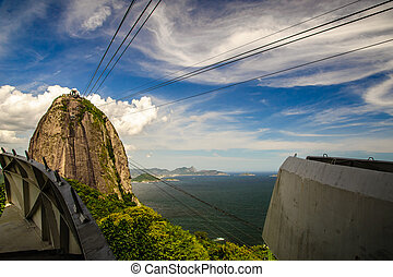 Cableway to Sugarloaf Mountain - The cableway up to the...