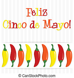 Cinco De Mayo - Feliz Cinco de Mayo Happy 5th of May chilli...