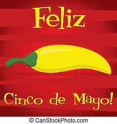 Cinco De Mayo - Feliz Cinco de Mayo Happy 5th of May card in...
