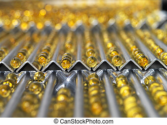 Pharmaceutical Industry - Medical Pills in production Line
